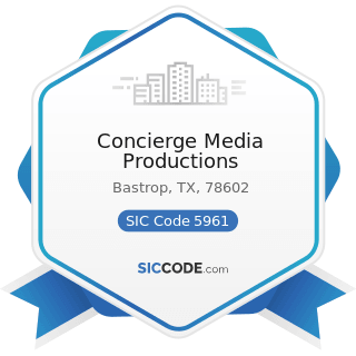 Concierge Media Productions - SIC Code 5961 - Catalog and Mail-Order Houses