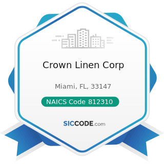 Crown Linen Corp - NAICS Code 812310 - Coin-Operated Laundries and Drycleaners