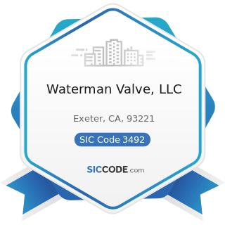 Waterman Valve, LLC - SIC Code 3492 - Fluid Power Valves and Hose Fittings
