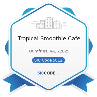 Tropical Smoothie Cafe - SIC Code 5812 - Eating Places