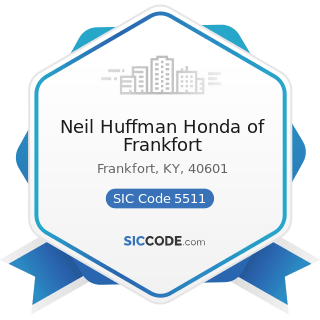 Neil Huffman Honda of Frankfort - SIC Code 5511 - Motor Vehicle Dealers (New and Used)