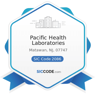 Pacific Health Laboratories - SIC Code 2086 - Bottled and Canned Soft Drinks and Carbonated...