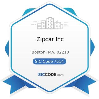 Zipcar Inc - SIC Code 7514 - Passenger Car Rental