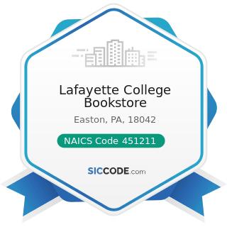 Lafayette College Bookstore - NAICS Code 451211 - Book Stores