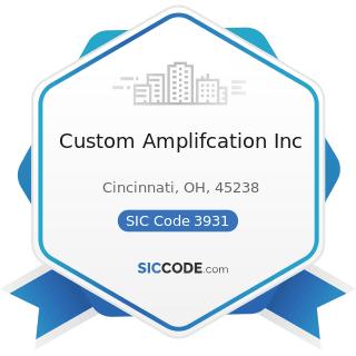 Custom Amplifcation Inc - SIC Code 3931 - Musical Instruments