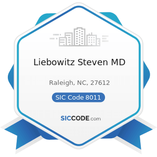 Liebowitz Steven MD - SIC Code 8011 - Offices and Clinics of Doctors of Medicine
