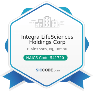 Integra LifeSciences Holdings Corp - NAICS Code 541720 - Research and Development in the Social...