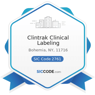 Clintrak Clinical Labeling - SIC Code 2761 - Manifold Business Forms