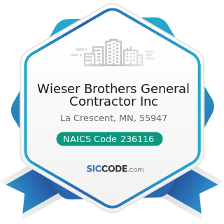 Wieser Brothers General Contractor Inc - NAICS Code 236116 - New Multifamily Housing...