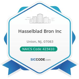 Hasselblad Bron Inc - NAICS Code 423410 - Photographic Equipment and Supplies Merchant...
