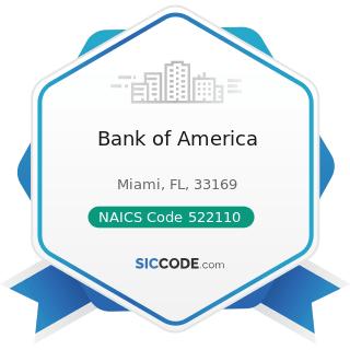 Bank of America - NAICS Code 522110 - Commercial Banking
