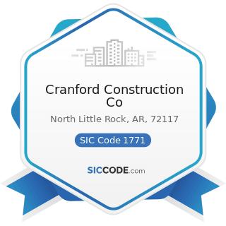 Cranford Construction Co - SIC Code 1771 - Concrete Work
