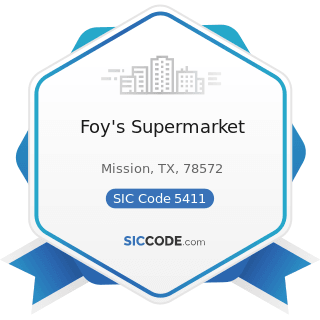 Foy's Supermarket - SIC Code 5411 - Grocery Stores