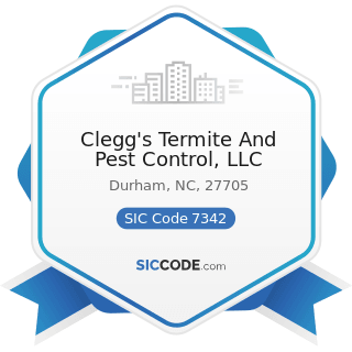Clegg's Termite And Pest Control, LLC - SIC Code 7342 - Disinfecting and Pest Control Services