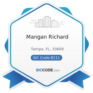Mangan Richard - SIC Code 8111 - Legal Services