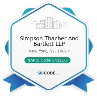 Simpson Thacher And Bartlett LLP - NAICS Code 541110 - Offices of Lawyers