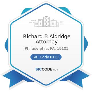 Richard B Aldridge Attorney - SIC Code 8111 - Legal Services