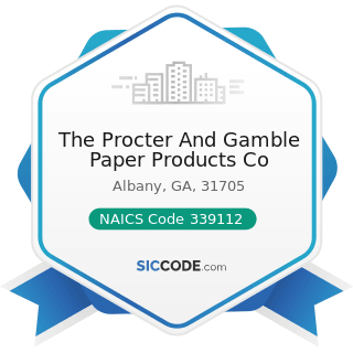 The Procter And Gamble Paper Products Co - NAICS Code 339112 - Surgical and Medical Instrument...