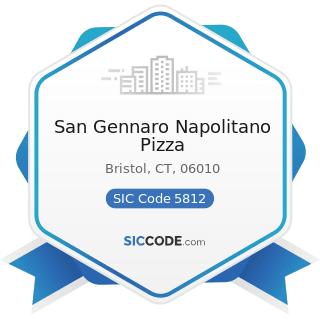 San Gennaro Napolitano Pizza - SIC Code 5812 - Eating Places