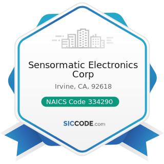 Sensormatic Electronics Corp - NAICS Code 334290 - Other Communications Equipment Manufacturing