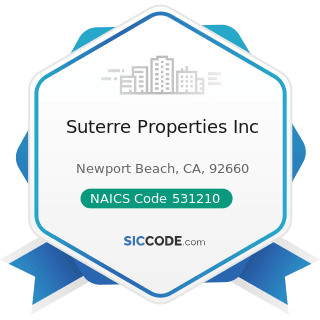 Suterre Properties Inc - NAICS Code 531210 - Offices of Real Estate Agents and Brokers