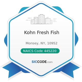Kohn Fresh Fish - NAICS Code 445220 - Fish and Seafood Markets
