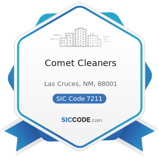 Comet Cleaners - SIC Code 7211 - Power Laundries, Family and Commercial