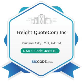 Freight QuoteCom Inc - NAICS Code 488510 - Freight Transportation Arrangement