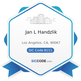 Jan L Handzlik - SIC Code 8111 - Legal Services