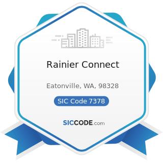Rainier Connect - SIC Code 7378 - Computer Maintenance and Repair