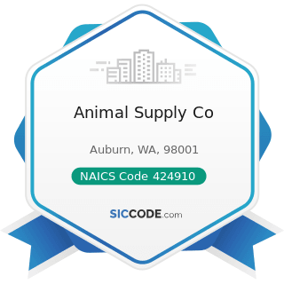 Animal Supply Co - NAICS Code 424910 - Farm Supplies Merchant Wholesalers