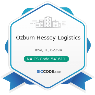Ozburn Hessey Logistics - NAICS Code 541611 - Administrative Management and General Management...