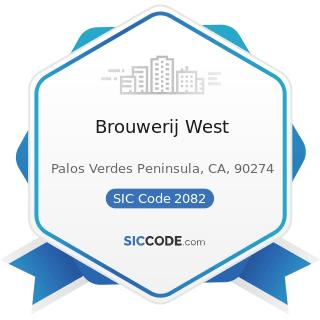 Brouwerij West - SIC Code 2082 - Malt Beverages