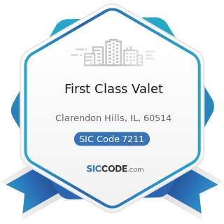 First Class Valet - SIC Code 7211 - Power Laundries, Family and Commercial