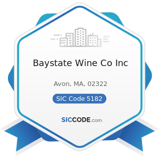 Baystate Wine Co Inc - SIC Code 5182 - Wine and Distilled Alcoholic Beverages