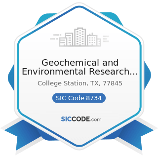 Geochemical and Environmental Research Group - SIC Code 8734 - Testing Laboratories