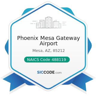 Phoenix Mesa Gateway Airport - NAICS Code 488119 - Other Airport Operations