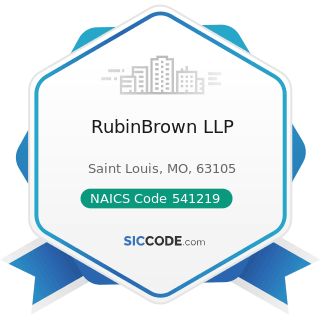 RubinBrown LLP - NAICS Code 541219 - Other Accounting Services