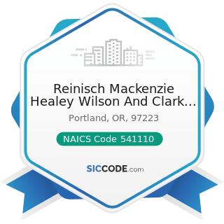 Reinisch Mackenzie Healey Wilson And Clark PC - NAICS Code 541110 - Offices of Lawyers