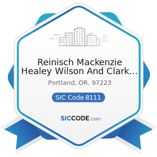 Reinisch Mackenzie Healey Wilson And Clark PC - SIC Code 8111 - Legal Services