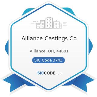 Alliance Castings Co - SIC Code 3743 - Railroad Equipment