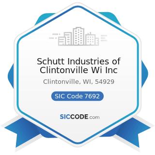 Schutt Industries of Clintonville Wi Inc - SIC Code 7692 - Welding Repair