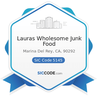 Lauras Wholesome Junk Food - SIC Code 5145 - Confectionery