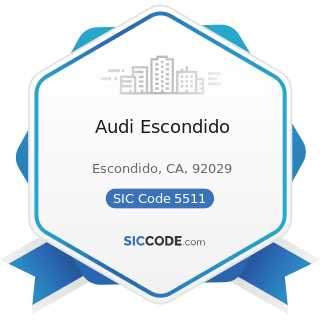 Audi Escondido - SIC Code 5511 - Motor Vehicle Dealers (New and Used)