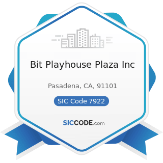 Bit Playhouse Plaza Inc - SIC Code 7922 - Theatrical Producers (except Motion Picture) and...