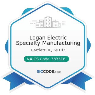 Logan Electric Specialty Manufacturing - NAICS Code 333316 - Photographic and Photocopying...