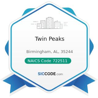 Twin Peaks - NAICS Code 722511 - Full-Service Restaurants