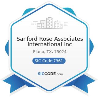 Sanford Rose Associates International Inc - SIC Code 7361 - Employment Agencies