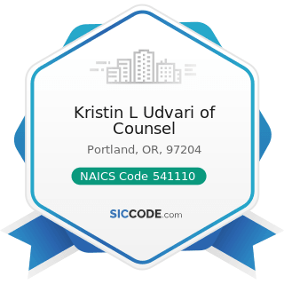 Kristin L Udvari of Counsel - NAICS Code 541110 - Offices of Lawyers