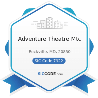 Adventure Theatre Mtc - SIC Code 7922 - Theatrical Producers (except Motion Picture) and...